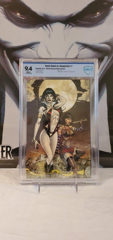 Hack & Slash vs. Vampirella #1 - CBCS 9.4 - Virgin Cover Limited to 100
