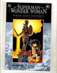 Superman Wonder Woman Whom Gods Destroy Complete DC Series # 1 2 3 4 Comics JF15