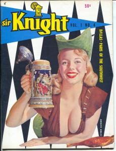 Sir Knight #4 1958-Donna Long-Nikki Gibson-cheesecake-Russ Meyer-VF