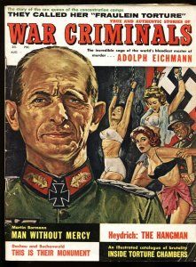 WAR CRIMINALS #1 Aug 1961 Adolph Eichman-Nazi torture cover