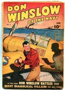 DON WINSLOW OF THE NAVY #16 1944- Fawcett Golden Age VG