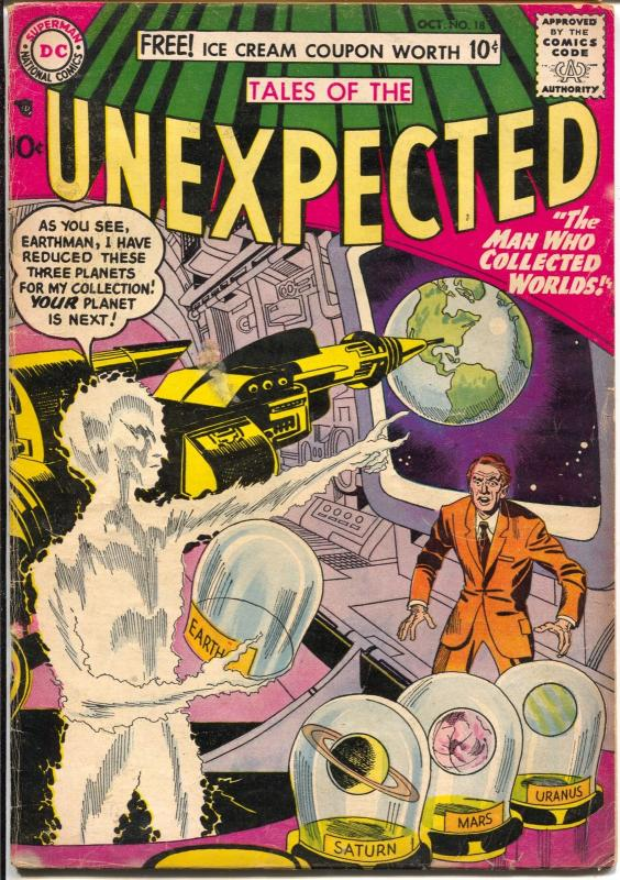 Tales of The Unexpected #18 1957-DC-Jack Kirby-sci-fi-mystery-VG+