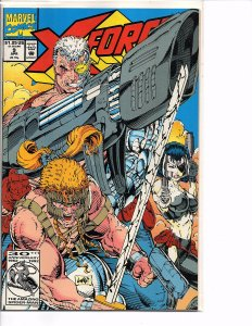 Marvel Comics X-Force Vol. 1 #9 Cable Cannonbal; Domino Sam comes back to life