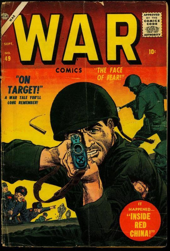 War Comics #49 1957- Atlas War- Final issue- Gene Colan G/VG