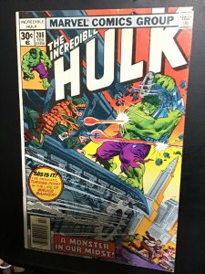 The Incredible Hulk #208 (1977) High-grade Absorbing Man key! VF. Wow!