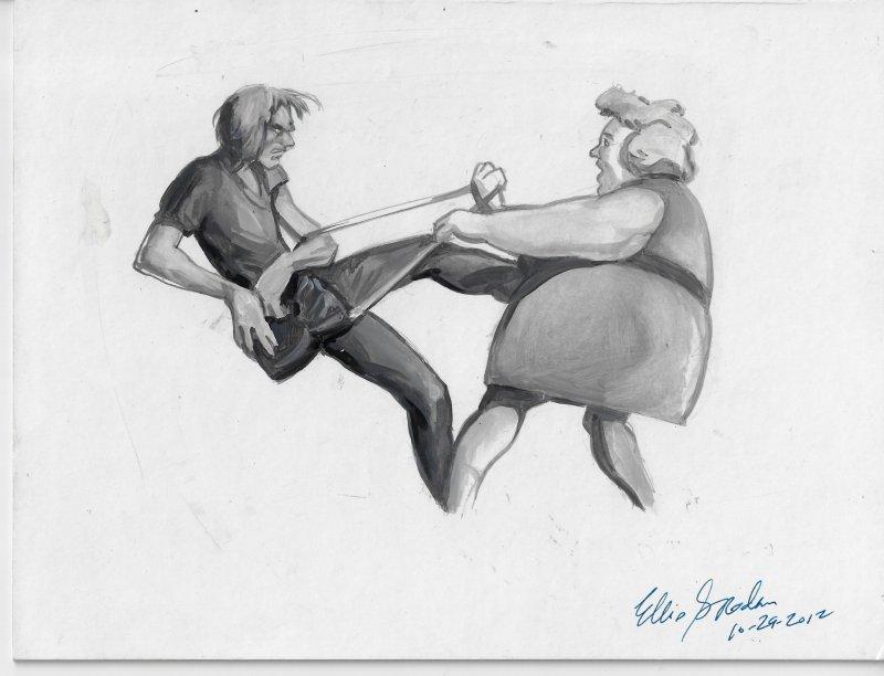 Ellis Goodson Original Art - 7.5 x 10