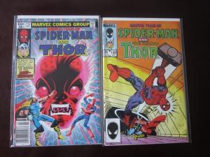 Marvel Team Up #115 & #148 - SpiderMan Thor - VF - 1982 1984