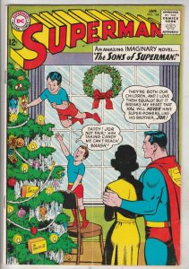 Superman #166 (Jan-64) FN/VF Mid-High-Grade Superman, Jimmy Olsen,Lois Lane, ...