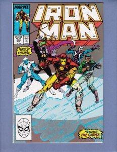 Iron Man #240 NM- Justin Hammer Marvel 1989