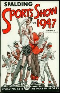 SPALDING SPORTS SHOW for 1947-PROMO COMIC-W MULLIN ART VF