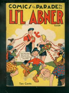 COMICS ON PARADE #54 1946-LI'L ABNER-DAISY MAE-AL CAPP VG