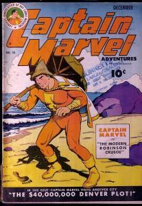 CAPTAIN MARVEL ADVENTURES #30-ROBINSON CRUSOE VG