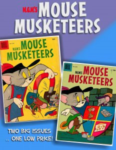 MGM's MOUSE MUSKETEERS #8 & 9 (1957) 72 pages of Great Harvey Eisenberg art!