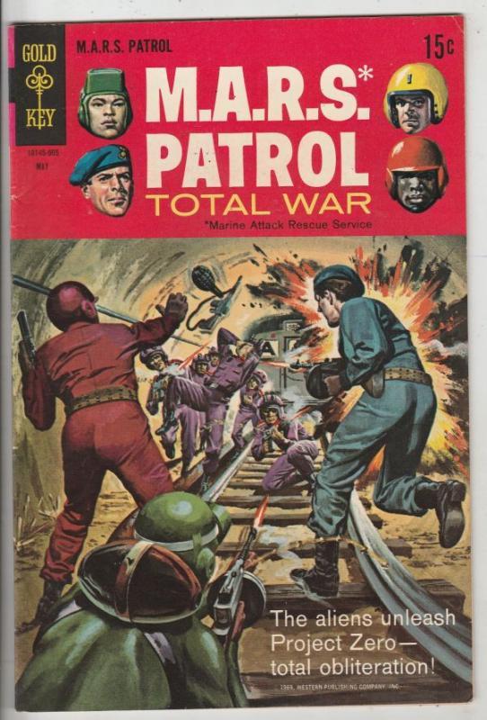 M.A.R.S. Patrol Total War #9 (May-69) VF/NM High-Grade M.A.R.S. (Sgt. Joe Str...