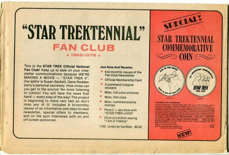 Star Trektennial 1976-memorabilia catalog-newspaper format-VG
