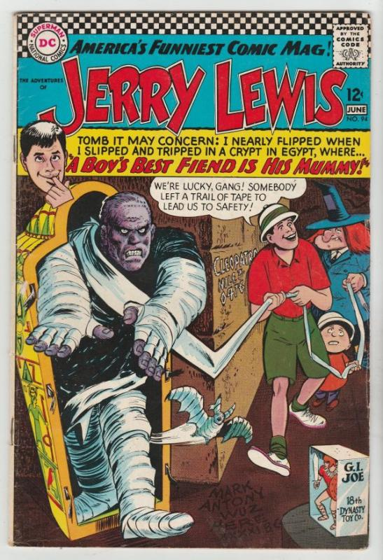 Jerry Lewis, the Adventures of #94 (Jun-66) FN/VF+ Mid-High-Grade Jerry Lewis