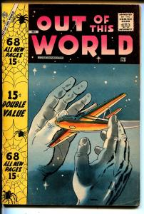 Out Of This World #8 1958-Charlton-Capt X-Ditko-Horror-sci-fi-Giant Edition-G