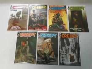 Creepy comic lot 7 different from #2-9 avg 8.5 VF+ (2009-12 Dark Horse)