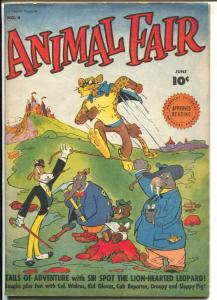 Animal Fair #4 1946-Fawcett-funny animals-high grade-VF