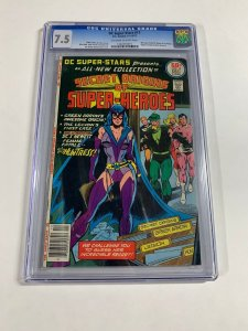 Dc Super-stars 17 Cgc 7.5 Ow/w Pages 1st Huntress
