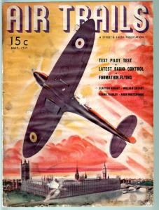AIR TRAILS PULP 5/1939-AVIATION-BILL BARNES-STREET AND SMITH-ARCH WHITEHOUSE FR
