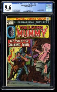 Supernatural Thrillers #13 CGC NM+ 9.6 White Pages The Living Mummy!