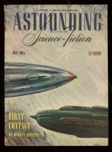 ASTOUNDING SCIENCE FICTION MAY 1945 - ROCKET COVER PULP VF