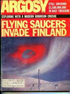 Argosy 10/1971-Popular-Flying Saucer issue-exploitation-pulp fiction-VG