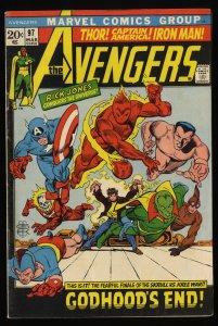 Avengers #97 VG 4.0 Marvel Comics Thor Captain America