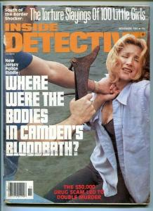 INSIDE DETECTIVE-11/1980-TORTURE SLAYING-BLOODBATH-DRUG SCAM-MUTILATED G/VG