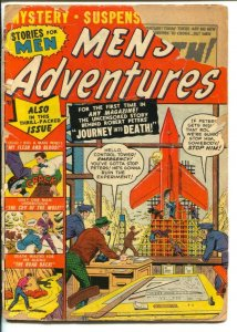 Men's Adventures #8 1951-Atlas-Rocket cover-Russ Heath flying saucer story-P/FR
