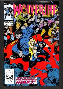 Wolverine (1988) #7 NM- 9.2 Incredible Hulk!
