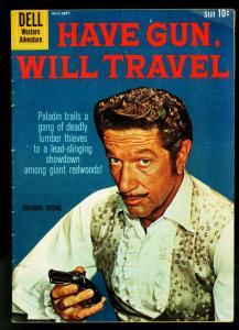 Have Gun Will Travel #6 1960- Dell western Comic- Richard Boone- VG