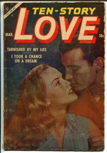 Ten-Story Love Vol. 33 #2 1954-Ace-former pulp-spicy romance art-photo cover-VG