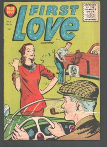 First Love #54 1955-Hitch hiking woman cover-Jungle Girl art by Bob Powell-Hi...