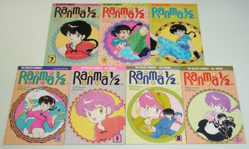 Ranma 1/2 #1-7 VF/NM complete series - viz manga - rumiko takahashi set lot