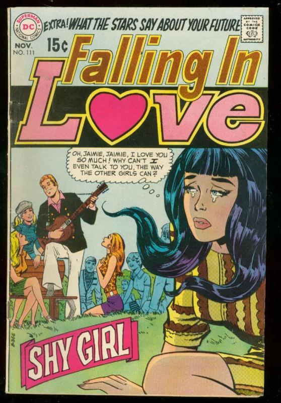 FALLING IN LOVE #111 1969-DC ROMANCE COMICS-SHY GIRL- FN