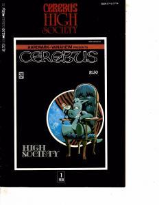 Lot Of 2 Comic Books Cerebus High Society #1 and Charlton Bullseye #3 WT21
