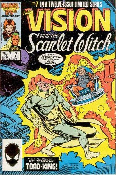 Vision and the Scarlet Witch (1985 series) #7, NM- (Stock photo)