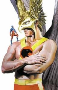 HAWKMAN and ATOM Poster, Alex Ross, 22x34, 2000, Unused, JLA, more DC in store