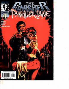 Lot Of 2 Marvel Comic Books The Punisher Painkiller Jane #1 and Red Xmax #1 MS17