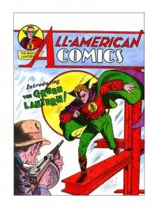 All-American Comics #16 HAND COLORED COVER signed Sheldon Moldoff 14 x 20 print