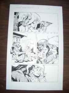 COMMON GROUNDS #3 PG 8--ORIGINAL COMIC ART--DAN JURGENS FN
