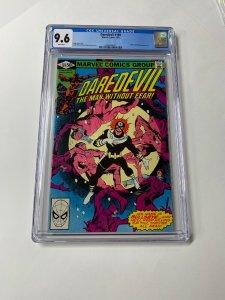 Daredevil 169 Cgc 9.6 White Pages Marvel Frank Miller 2060493007