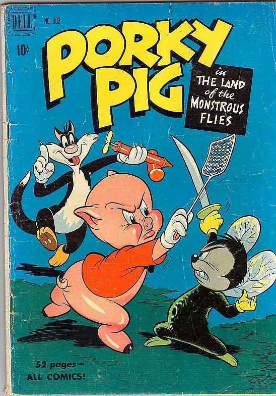 Four Color #303 (Dec-50) VG Mid-Grade Porky Pig, Sylvester Cat, Petunia Pig, ...