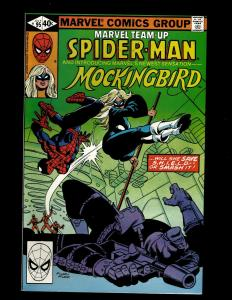 Marvel Team-Up #95 FN- Marvel Comic Book Spider-Man Monkingbird GK18