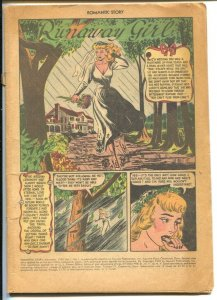 Romantic Story #1 1949-Fawcett-Runaway Girl- bride splash panel & story-P