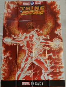 THE THING AND THE HUMAN TORCH Promo Poster, 24 x 36, 2017, MARVEL, Unused more i