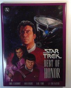 DC STAR TREK TOS DEBT OF HONOR HC W/DJ 1ST PRINT 1992 CLAREMONT Hard to Find
