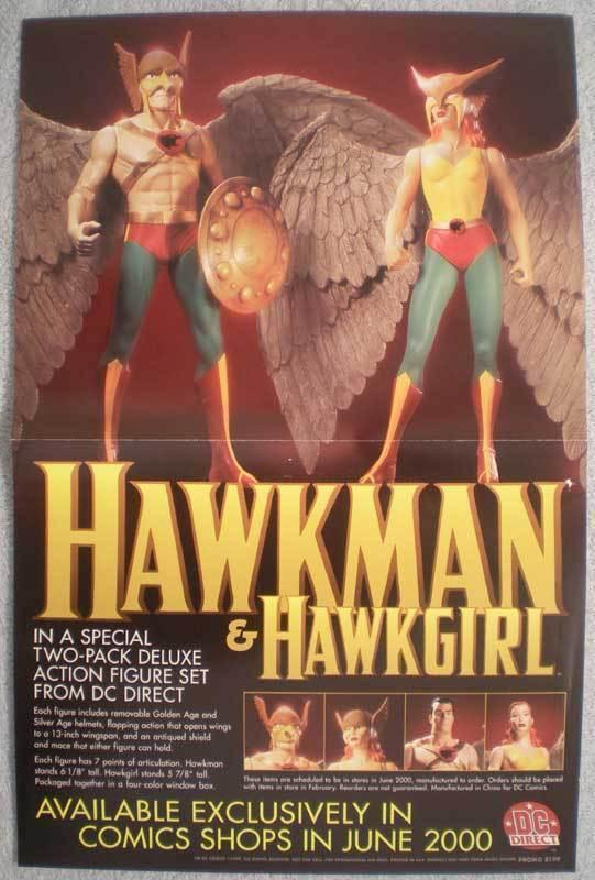 HAWKMAN HAWKGIRL Promo poster, 11x17, 1999, Unused, more Promos in store